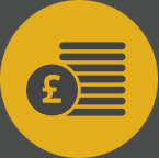 Benefits and finance icon